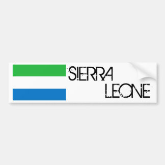 Sierra Leone Flag Bumper Sticker