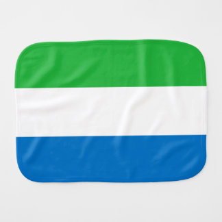 Sierra Leone Flag Burp Cloth