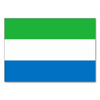 Sierra Leone Flag Card