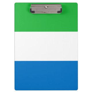 Sierra Leone Flag Clipboard