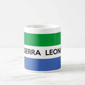 sierra leone flag country text name coffee mug