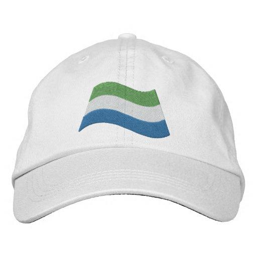 Sierra Leone Flag Embroidered Hat