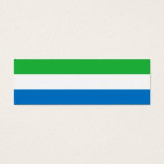 Sierra Leone Flag Mini Business Card