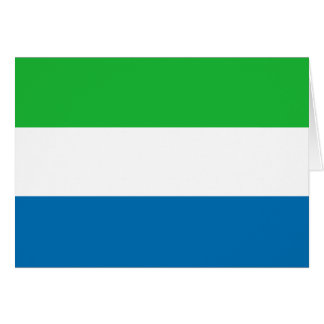 Sierra Leone Flag Notecard Greeting Cards