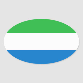 Sierra Leone Flag Oval Sticker