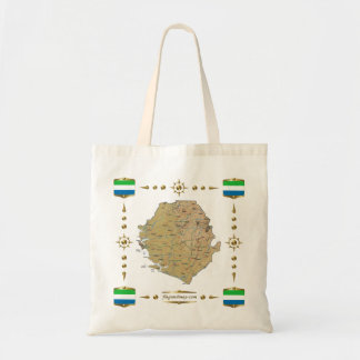 Sierra Leone Map + Flags Bag