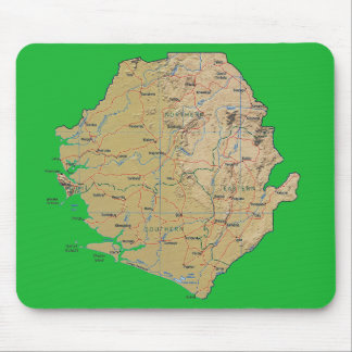 Sierra Leone Map Mousepad