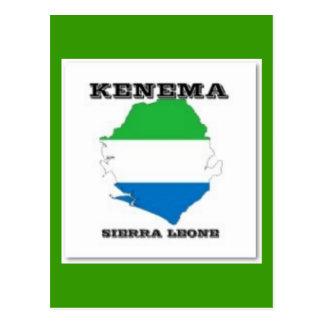 Sierra Leone, Map PostCard(Kenema) Postcard