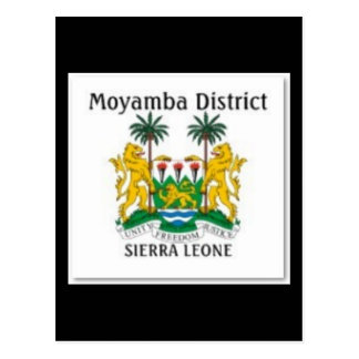 SIERRA LEONE MAP T-SHIRT AND ETC POSTCARD