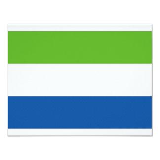 Sierra Leone National Flag 11 Cm X 14 Cm Invitation Card