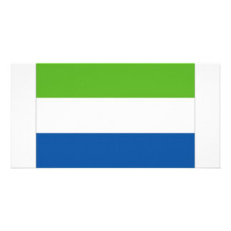 Sierra Leone National Flag Picture Card