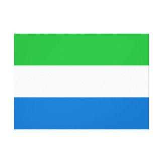 Sierra Leone National World Flag Canvas Print