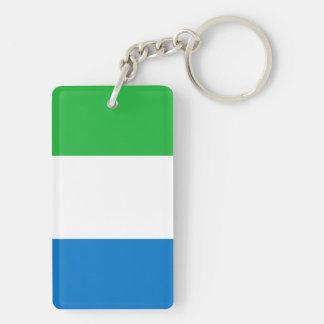 Sierra Leone National World Flag Key Ring
