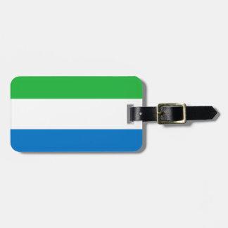 Sierra Leone National World Flag Luggage Tag