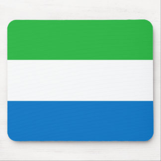 Sierra Leone National World Flag Mouse Pad