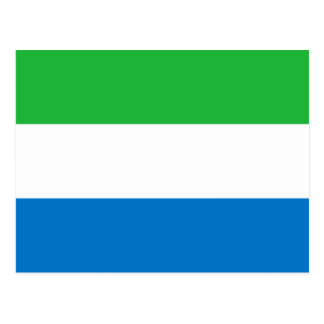 Sierra Leone National World Flag Postcard
