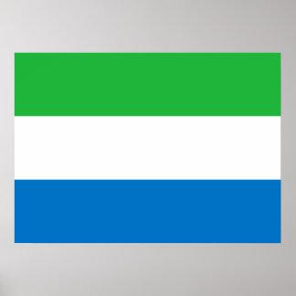 Sierra Leone National World Flag Poster