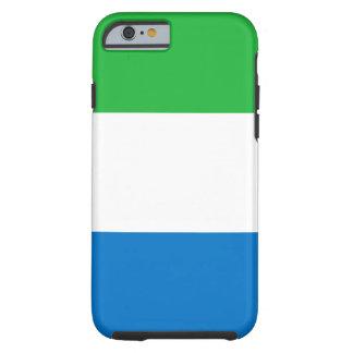 Sierra Leone National World Flag Tough iPhone 6 Case