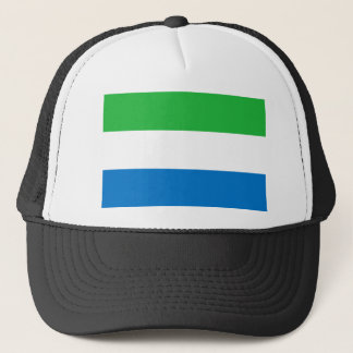 Sierra Leone National World Flag Trucker Hat