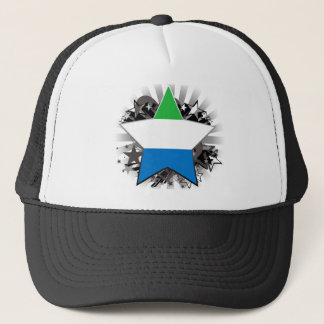 Sierra Leone Star Trucker Hat