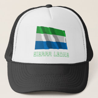 Sierra Leone Waving Flag with Name Trucker Hat