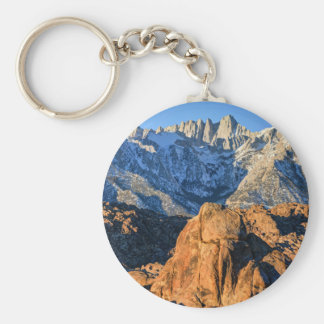 Sierra Nevada Mountains And Alabama Hills Sunrise Key Ring