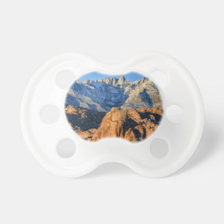 Sierra Nevada Mountains And Alabama Hills Sunrise Pacifier