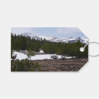 Sierra Nevada Mountains and Snow at Yosemite Gift Tags