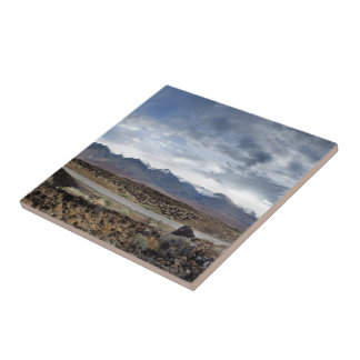 Sierra Nevada Mountains from Owens Valley Ceramic Tile