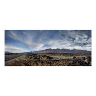 Sierra Nevada Mountains from Owens Valley Poster