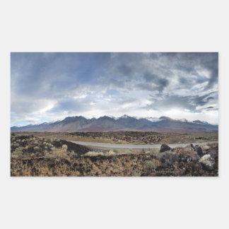 Sierra Nevada Mountains from Owens Valley Rectangular Sticker
