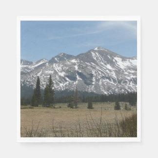 Sierra Nevada Mountains I from Yosemite Paper Napkin