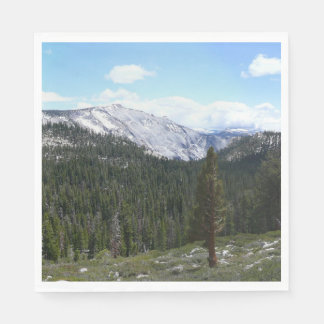 Sierra Nevada Mountains II from Yosemite Disposable Napkin