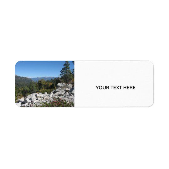 Sierra Nevada Mountains Return Address Label
