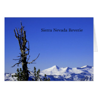 Sierra Nevada Reverie Card