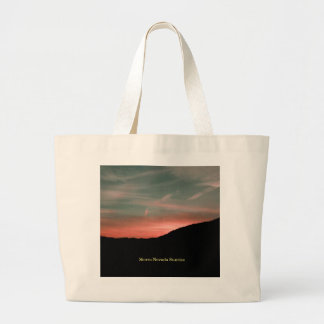Sierra Nevada Sunrise Large Tote Bag