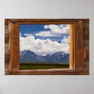 Sierra Nevada Through Cabin Window Poster