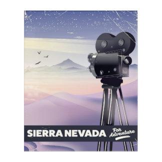 Sierra Nevada Travel poster Acrylic Wall Art