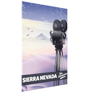 Sierra Nevada Travel poster Canvas Print