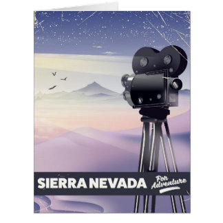 Sierra Nevada Travel poster Card