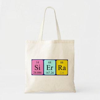 Sierra periodic table name tote bag