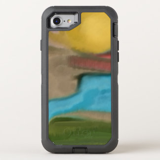 Sierra Sunrise Southwestern Abstract Art OtterBox Defender iPhone 8/7 Case