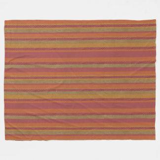 Sierra Sunset Striped Fleece Blanket