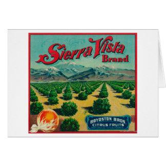 Sierra Vista Brand Citrus Crate Label Greeting Card