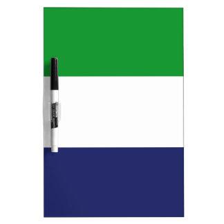 Sierraleoa flag dry erase board