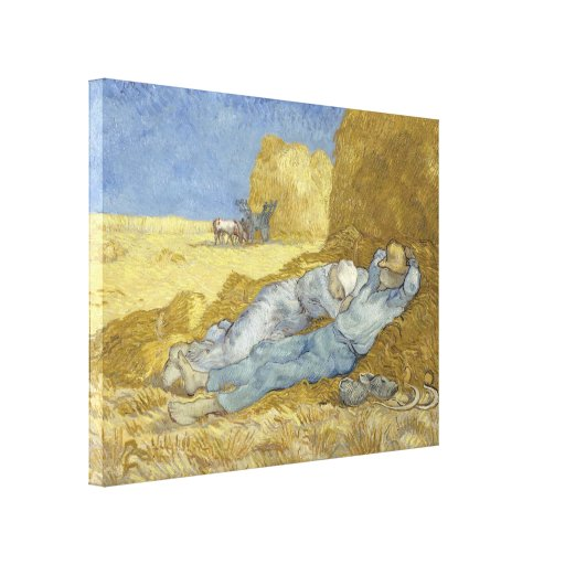 Siesta after Millet by Vincent Van Gogh Stretched Canvas Prints