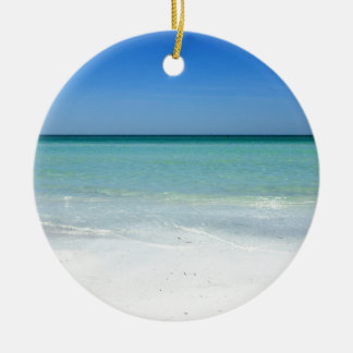 Siesta Beach Gulf Coast Ceramic Ornament