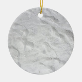 Siesta Beach Sand Close-up Ceramic Ornament