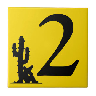 Siesta by cactus Yellow Hot Number 2 dos two tile