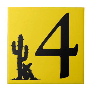 Siesta by cactus Yellow Hot Number 4 four tile